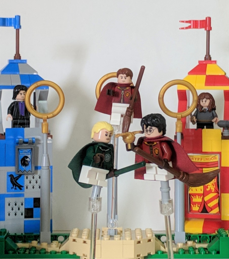 Harry Potter Minifigure Set Custom Harry and Malfoy Quidditch